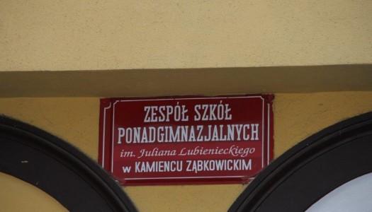 Stanowisko władz Powiatu Ząbkowickiego w sprawie Zespołu Szkół Ponadgimnazjalnych im. Juliana Lubienieckiego w Kamieńcu Ząbkowickim