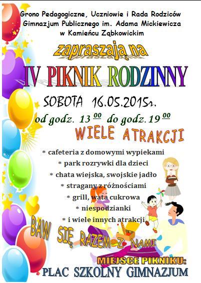 IV Piknik Rodzinny zapraszamy_01