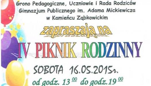 IV Piknik Rodzinny – zapraszamy!