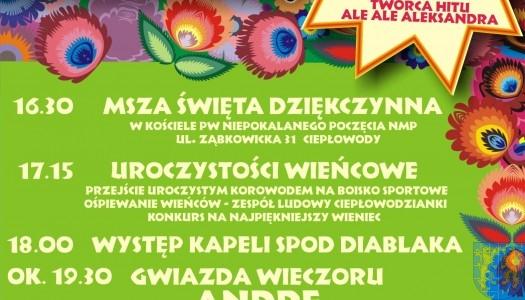 Zapraszamy na dożynki gminne w Ciepłowodach