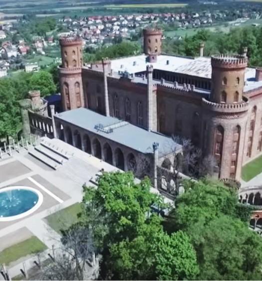 Kamieniecki pałac widziany z drona