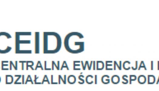 Rejestracja w CEiDG jest bezpłatna