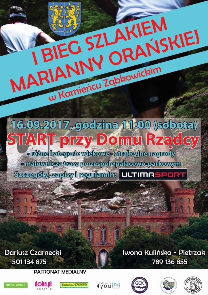 Bieg Szlakiem Marianny Orańskiej weź udział_01