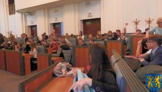 Lekcja  wiedzy o społeczeństwie w Urzędzie Marszałkowskim