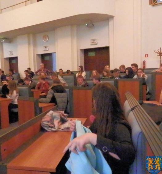 Lekcja  wiedzy o społeczeństwie w Urzędzie Marszałkowskim (7)