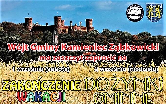 Zapraszamy na Dożynki Gminne 2018 w Kamieńcu Ząbkowickim (2)