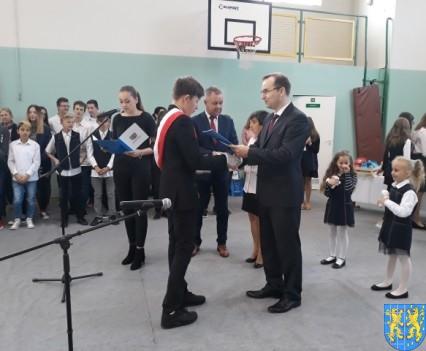 Stypendia Wójta Gminy Kamieniec Ząbkowicki dla uczniów kamienieckiej Dwójki (9)