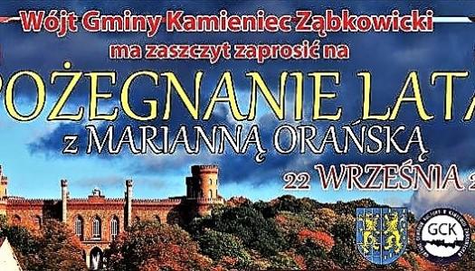 Pożegnanie Lata z Marianną Orańską 2018 – zaproszenie
