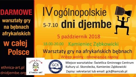 VI Ogólnopolskie Dni Djembe – zaproszenie do Kamieńca Ząbkowickiego