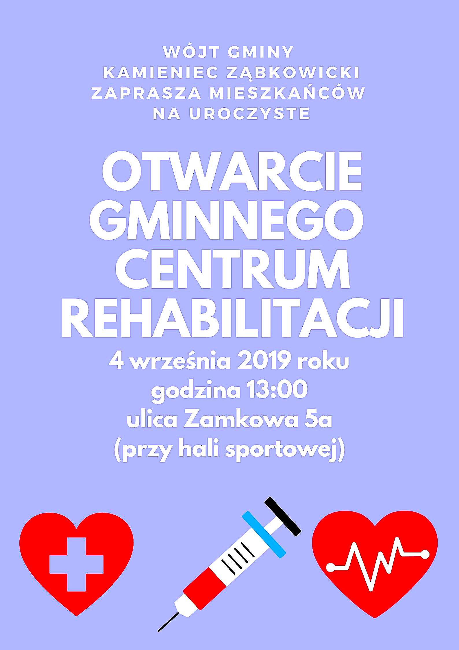 Otwarcie gminnego centrum rehabilitacji_