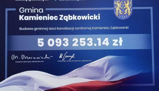 Rządowy Fundusz Inwestycji Lokalnych dla Gminy Kamieniec Ząbkowicki